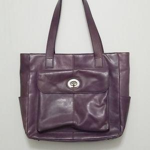 Danier Leather Laptop Bag Purple